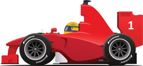 Formula 1 clipart race car Red com istockphoto vectors red