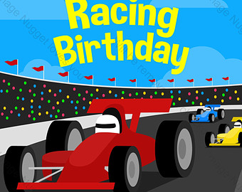 Formula One clipart racetrack Etsy printable 1 customizable design