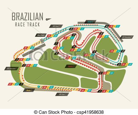 Formula One clipart racetrack Formula Brazil one track grand
