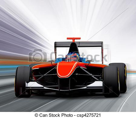 Formula 1 clipart speed car Of one motion Stock speed