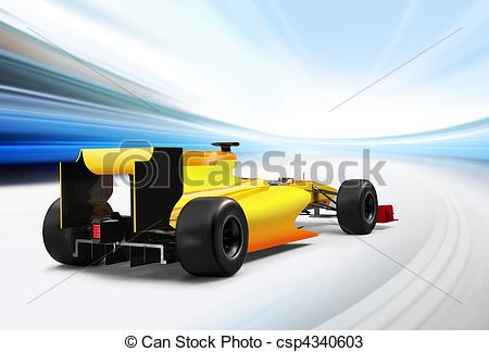 Formula One clipart speed car In driving high speed formula