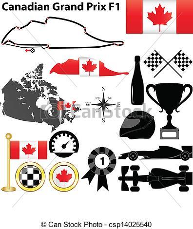 Formula One clipart vector With Canada Grand Formula Prix