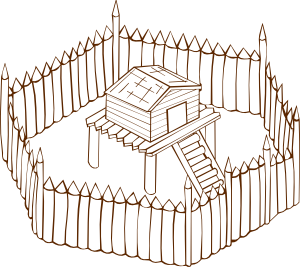 Fort clipart black and white Fort Fort vector clip royalty