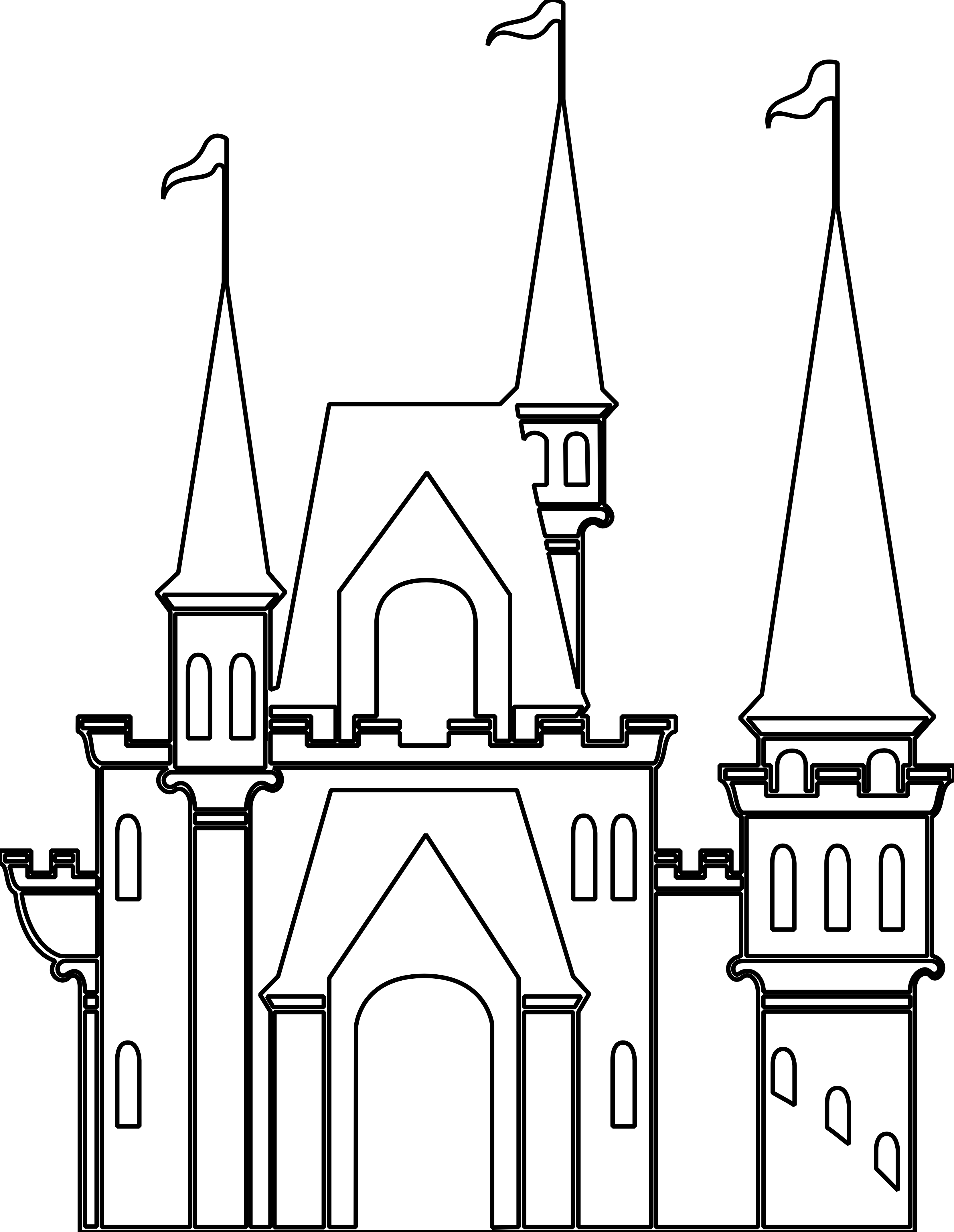 Fort clipart black and white Images Clipart Free pw Castle