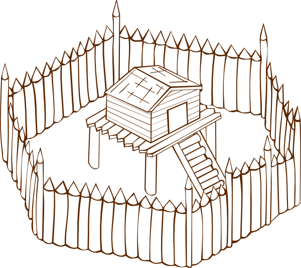 Fort clipart black and white  as: Download com vector
