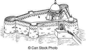 Fort clipart black and white Images Castle castle  on