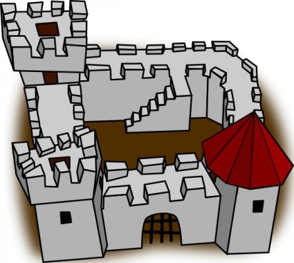 Fort clipart black and white Black  Clipart Images And