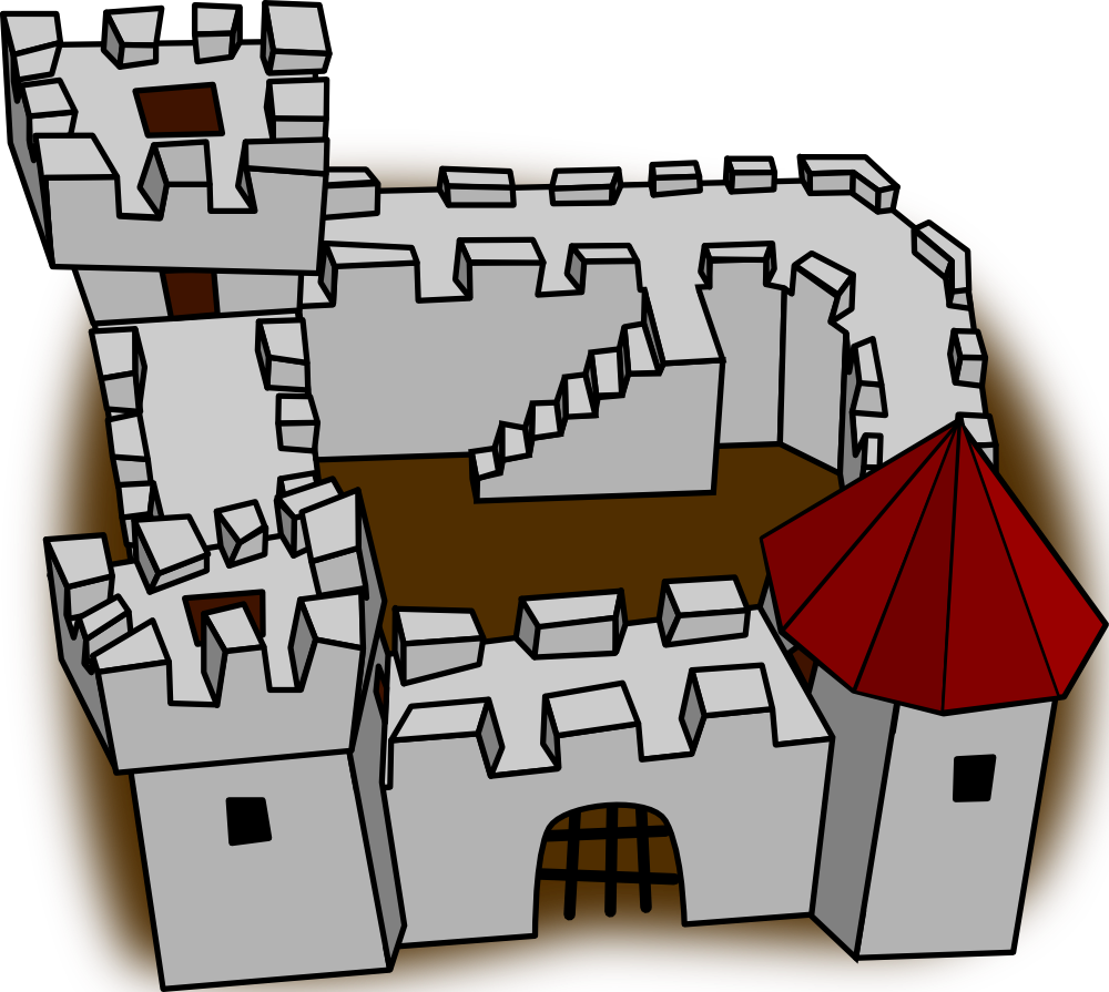 Fort clipart fortress  Perspective Fort Cartoony Art