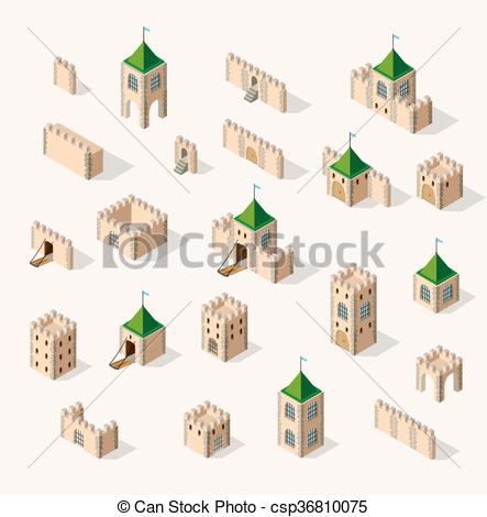 Fort clipart fortress Fortress Vectors fortress Illustration medieval