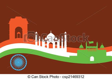 Fort clipart indian monument Csp21469312 and background with background