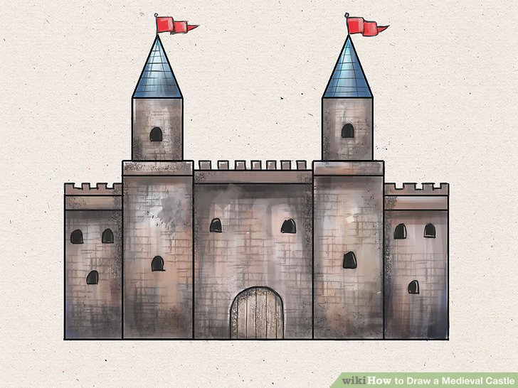 Drawn building school 8 Step to a wikiHow