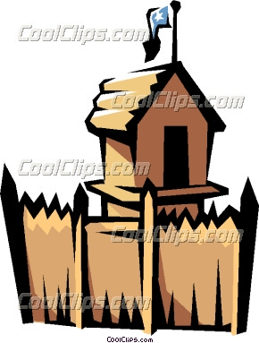 Fort clipart old  Forts Western Clipart