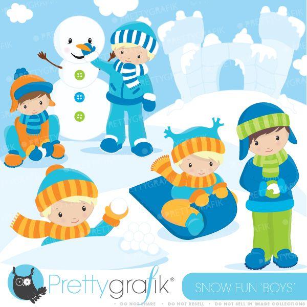 Winter clipart fun kid Mygrafico Pinterest Boys about Snow