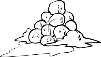 Fort clipart snowball Of Pile Snowballs Snowballs cliparts
