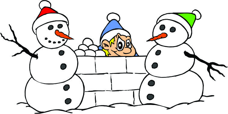Fort clipart snowball (43+) snowball kids fight clipart