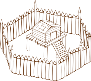 Fort clipart wood Vector free online royalty Clip