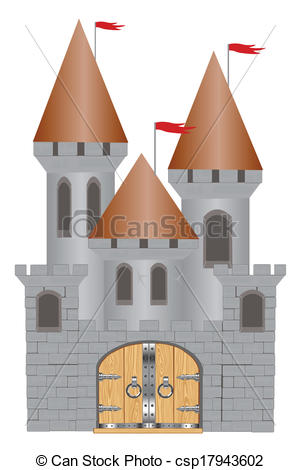 Fortress clipart brick On white Old  of