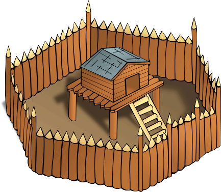 Fortress clipart Art Page Wooden Clip Structures