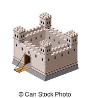 Fortress clipart Perspective Fortress Medieval 6 Art