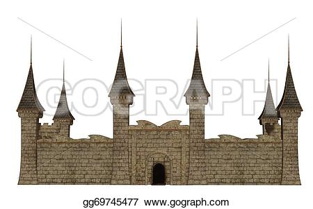 Fortress clipart background  Clipart Castle background Drawing