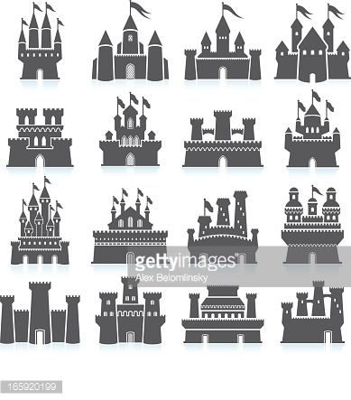Palace clipart medieval village Vector royalty  free Medieval