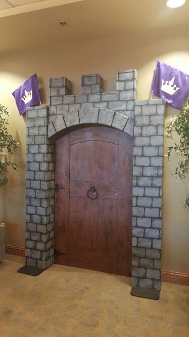 Fortress clipart castle door Castle for Castle painted cardboard