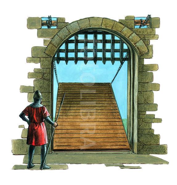 Fortress clipart castle drawbridge Put top Castles at Rock