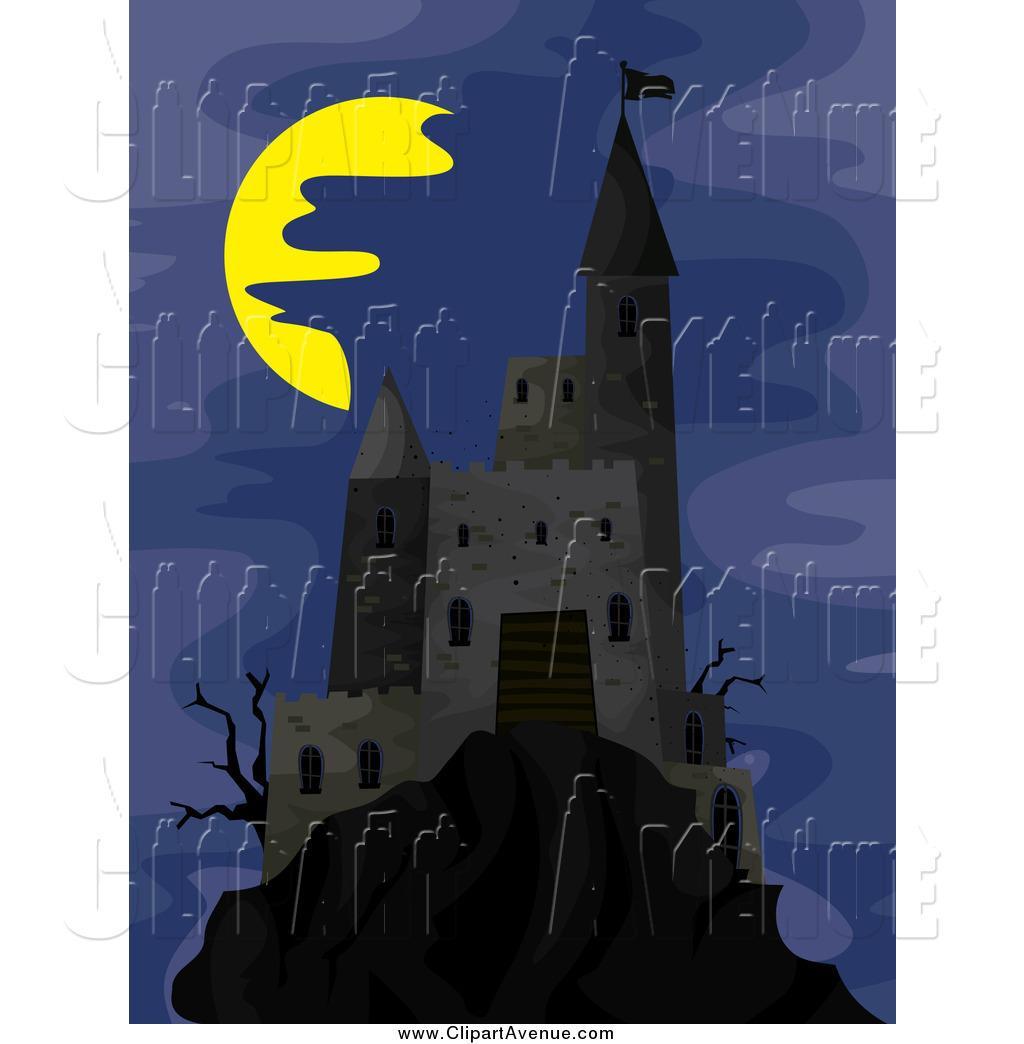 Castle clipart dark castle On Dark Creepy a Sky