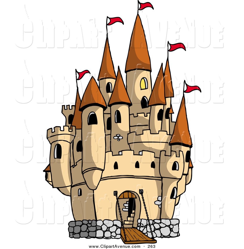 Mansion clipart castle gate Of Stock Large Flags Red