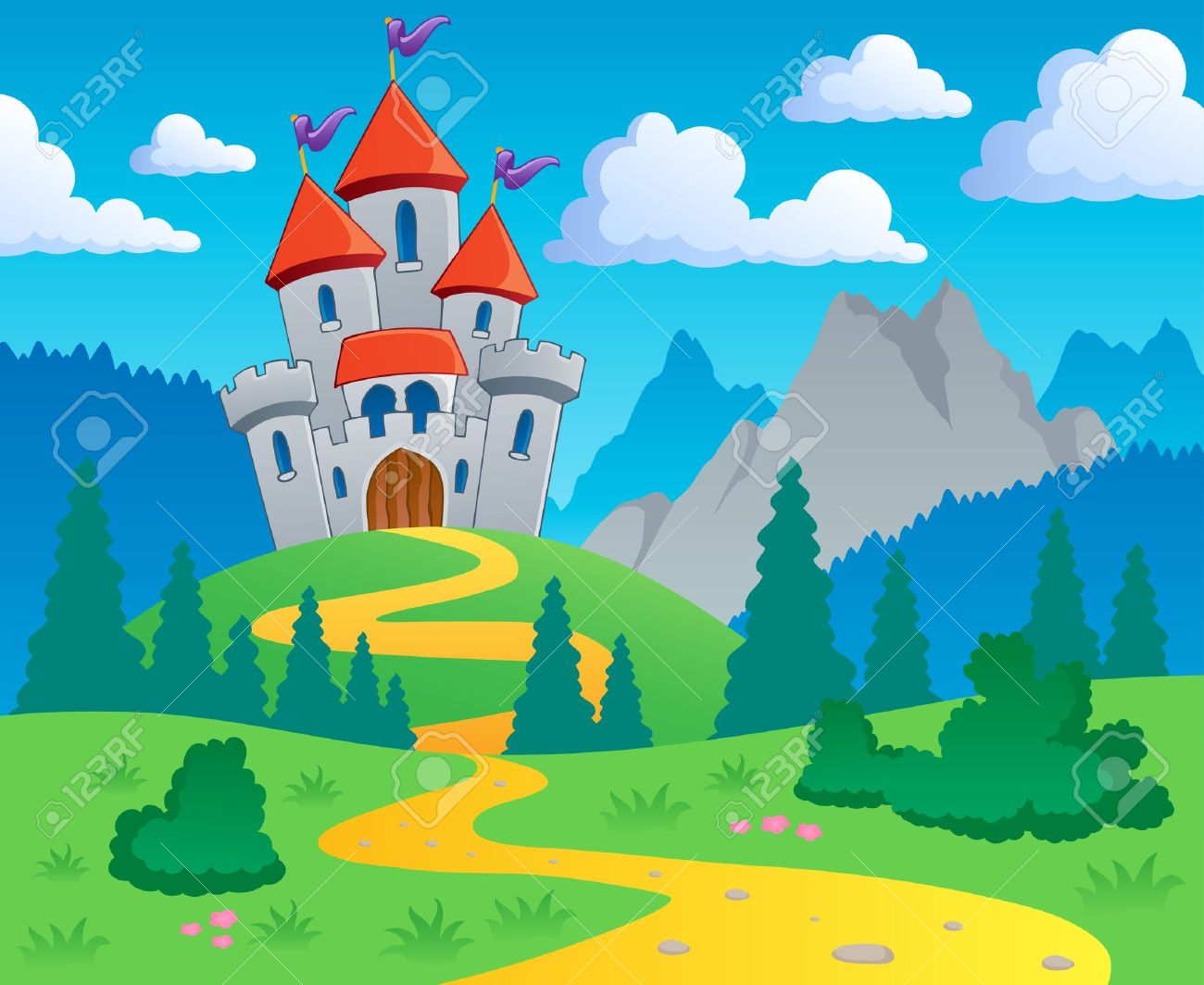 Castle clipart scenery Background Fortress collection 690 11