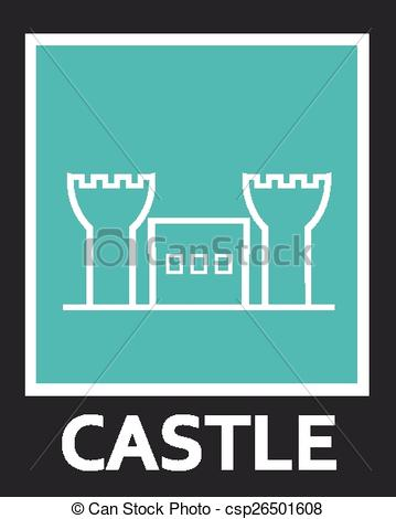 Fortress clipart simple Simple csp26501608 Contour the fortress