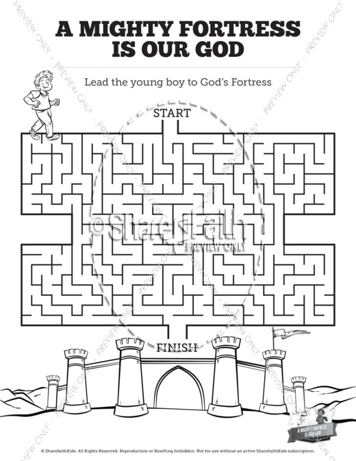 Maze clipart black and white God Mighty A Kids Fortress