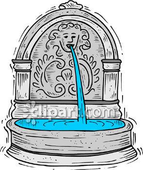 Fountain clipart Concrete Free Water Garden Fountain