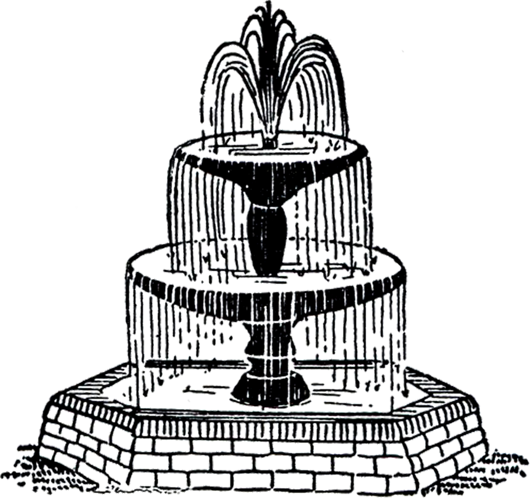Fountain clipart Clip Art! Fairy Fountain Fountain