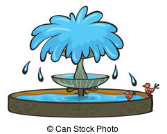 Fountain clipart Fountain clip Vector 695 illustration