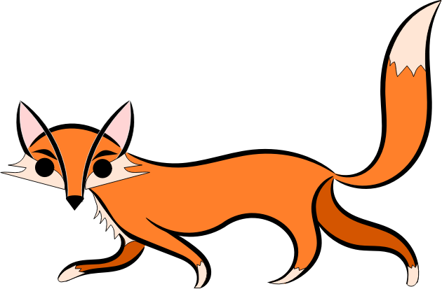 Fox clipart Brown this can looking school