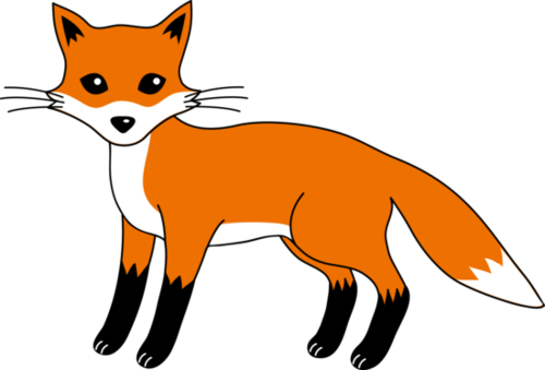 Red Fox clipart white tailed #3