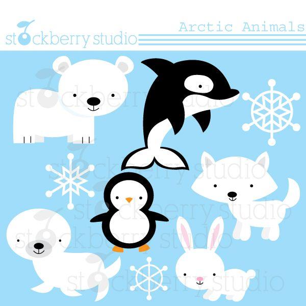 Tundra clipart winter animal #1