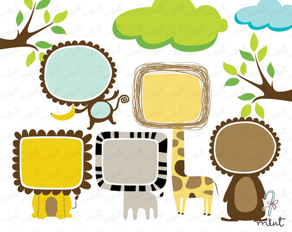 Fun clipart picture frame Animal A Frame A 50%