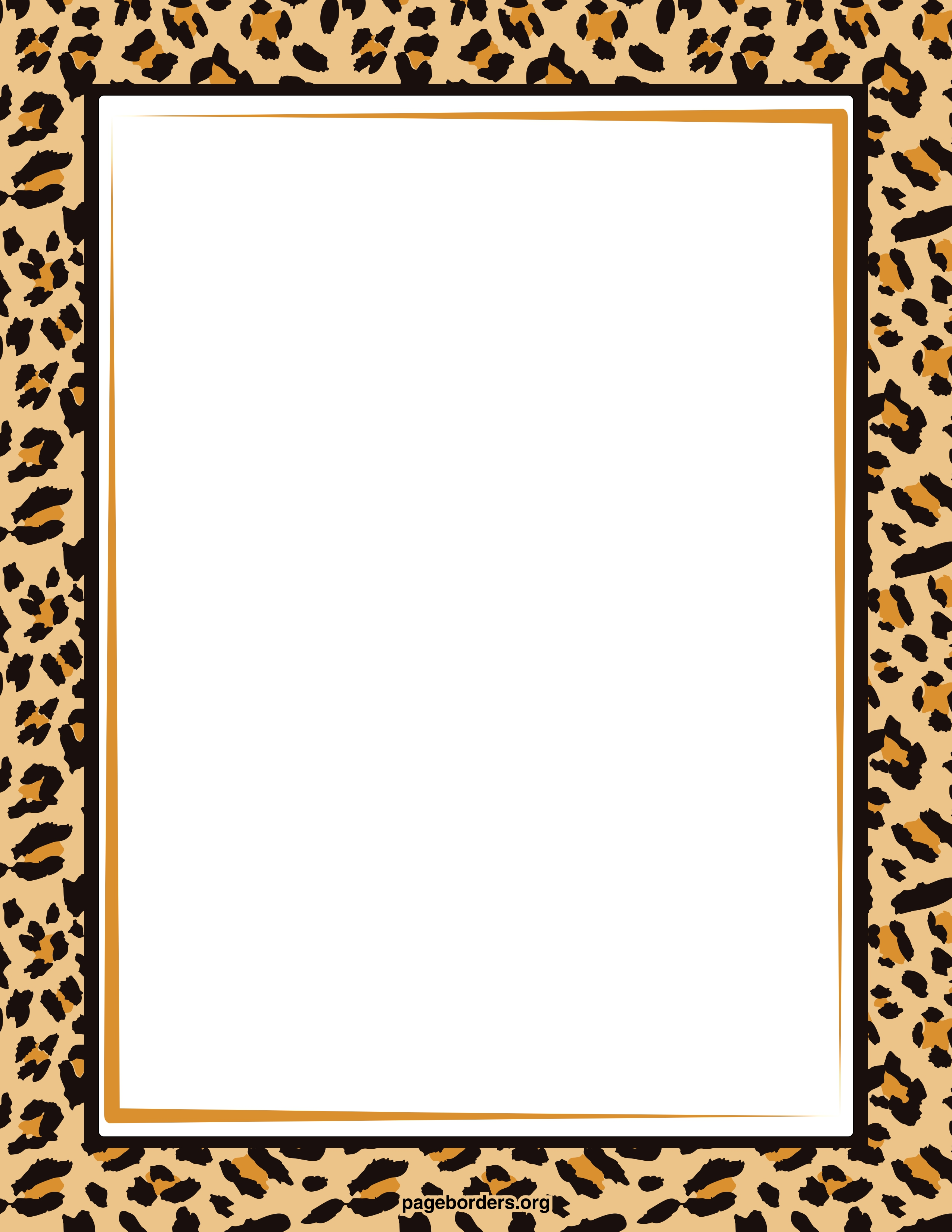 Frame clipart animal print Clip Art Art Zebra Free