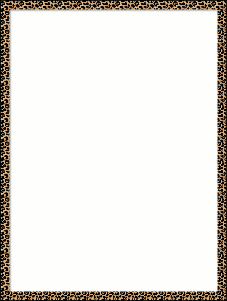 Frame clipart animal print Outline skin leopard pimped png