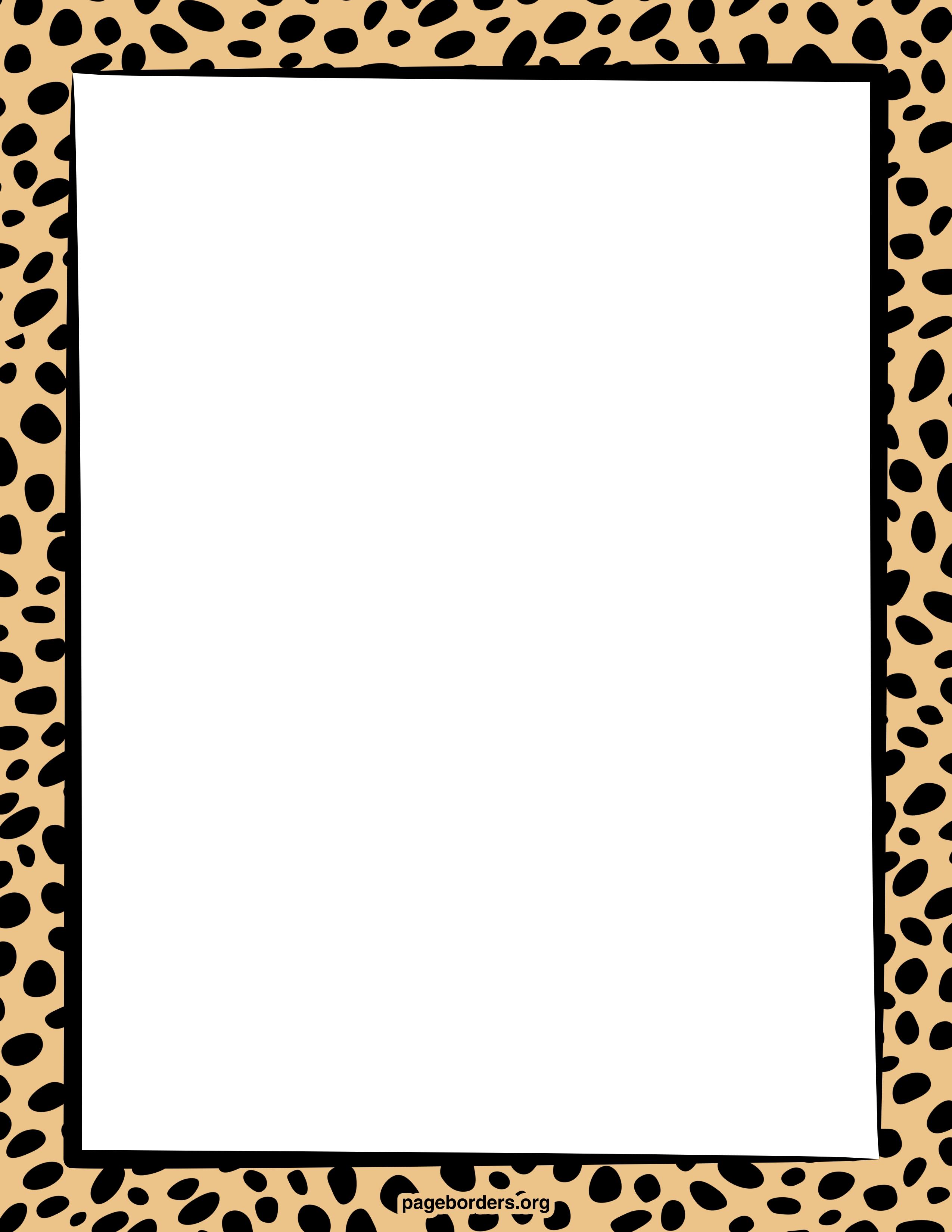 Tiger clipart frame #2