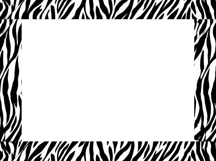 Frame clipart animal print  Art Printable Free Borders