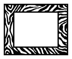 Frame clipart animal print Clipart Frame Print Zebra Clipart