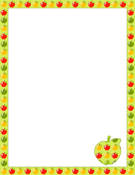 Frame clipart apple Border: on more about Pinterest
