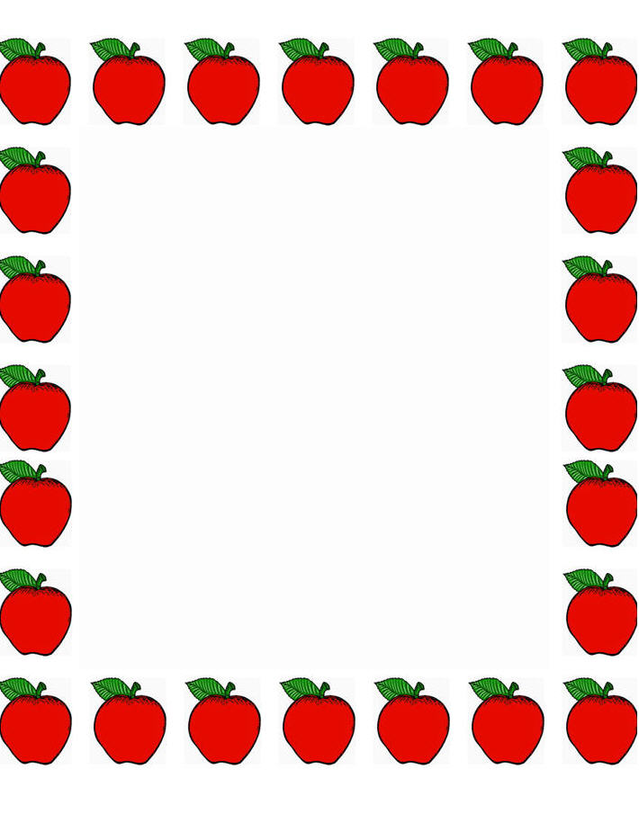 Frame clipart apple Papers school to printable is