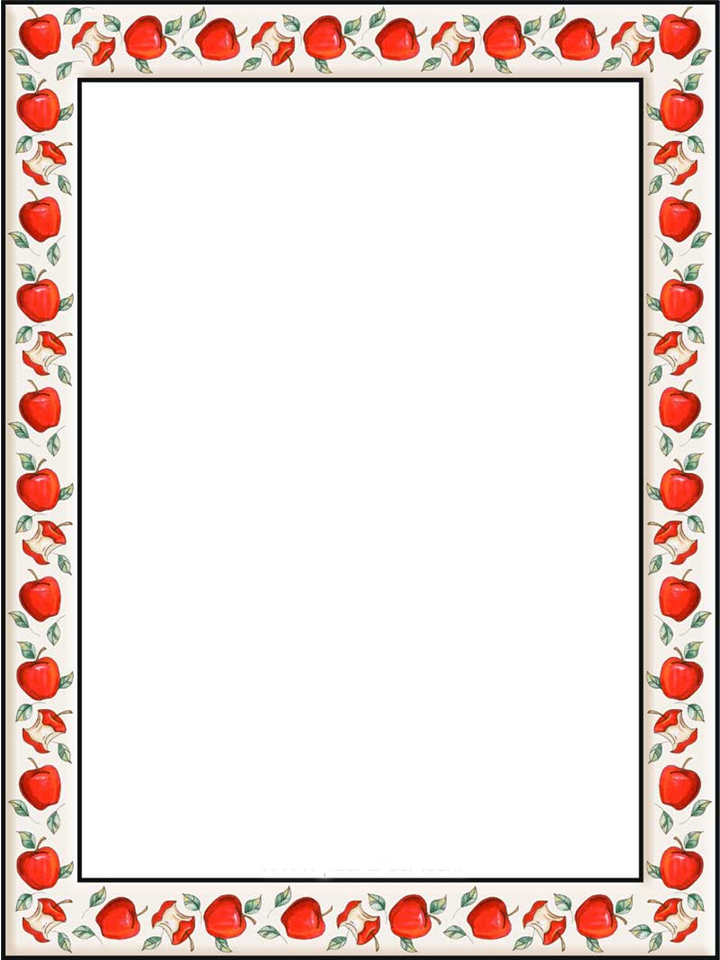 Frame clipart apple Free on more writing Apple