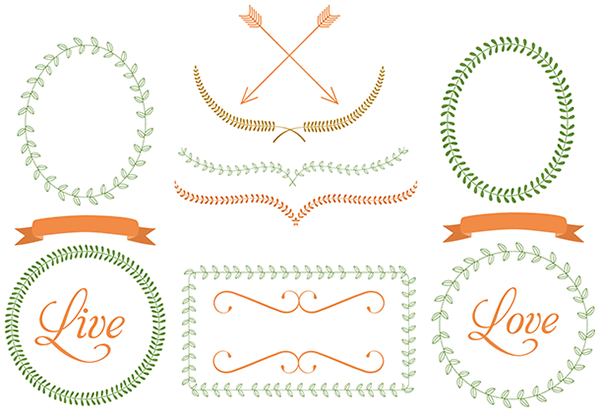 Line Art clipart graphic Blog Frames Starsunflower Arrows Clip