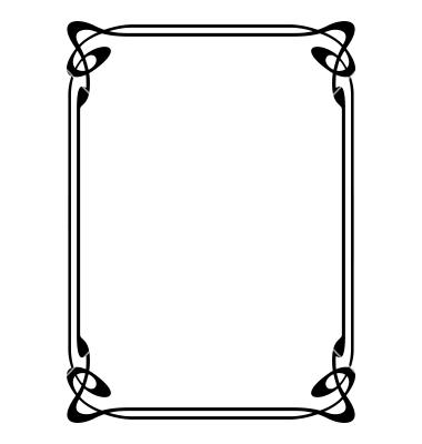 Frame clipart art nouveau VectorStock® Graphic frame VectorStock®
