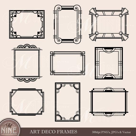 Frame clipart art nouveau FRAME Antique Art: DECO Borders